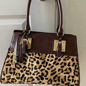Wilson's leather cheetah print bag